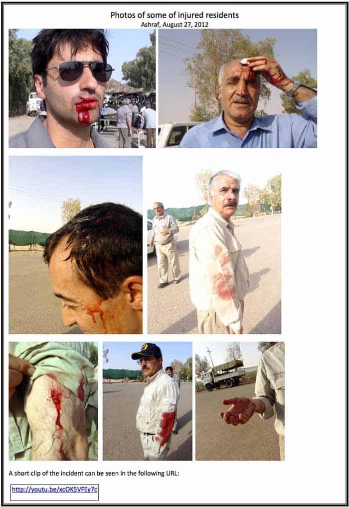ashraf residents injured by iraq