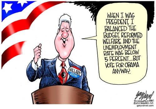 Bill Clinton Touts His Record At The DNC, Equaling The Clint Eastwood Performance At RNC