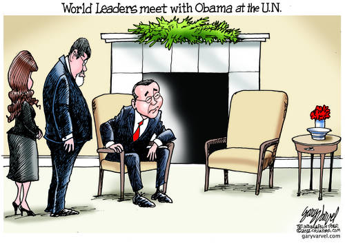 World Leaders Find Themselves Talking To Obama In Empty Chair