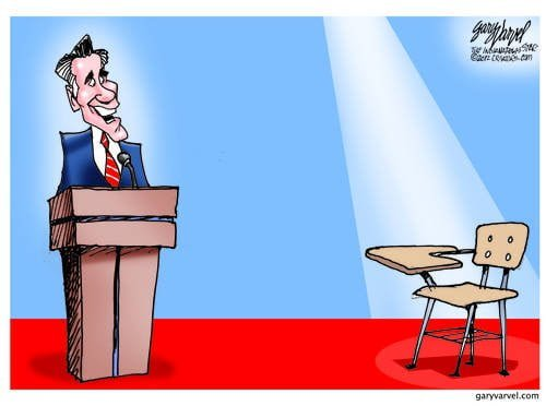 In The First Presidential Debate, It Seems Romney Was Debating An Empty Chair