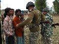 BDR Solder and Bangladeshis at Sathgachhi