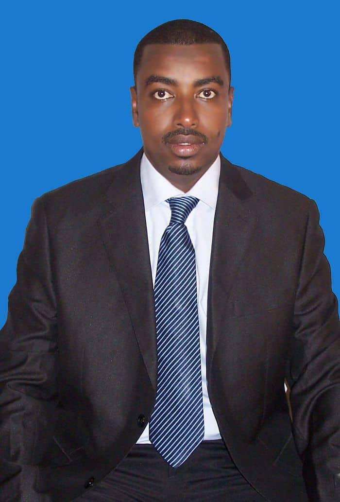 Presidential candiate Souleimna Hassan Waberi