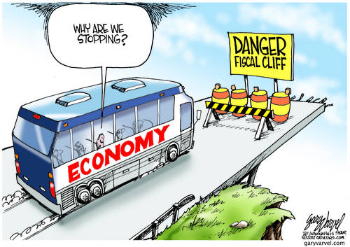 The Economy Bus Driver Pauses, Waiting For Some Reason We Dont Know Yet cartoon