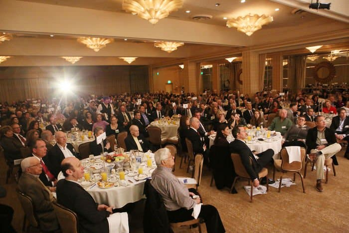 JNF breakfast meeting audience crowd photo by Orly Halevy