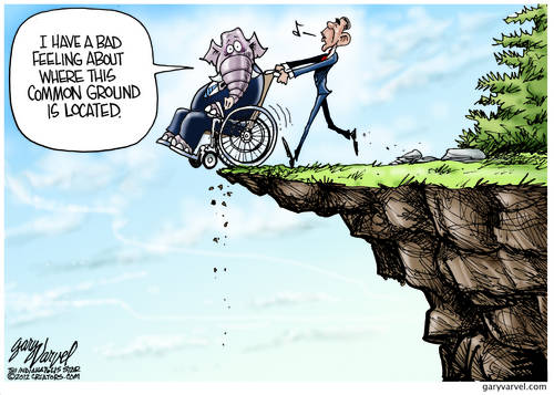 Obama Leads Incapacitated Republicans To Common Ground On Fiscal Cliff, Not What They Expected
