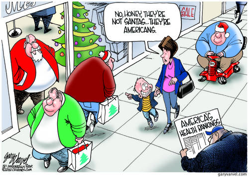 Kids Are Being Fooled By Obese People Imitating Santa. American Health Gets Worse