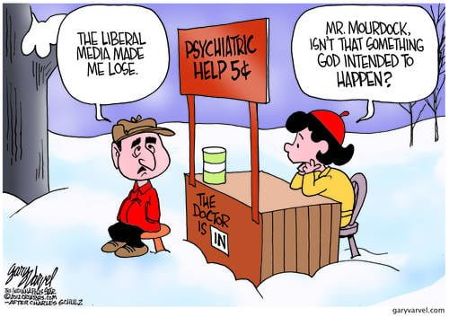 Mr Mourdock Gets Help From The Shrink, As He Confuses Gods Will With The Media
