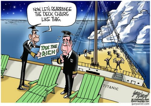 Captain Obama and Bosun Boehner Prepare To Rearrange Titanic Deck Chairs, As Danger Looms