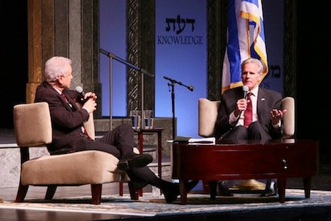 Ambassador Michael Oren and interviewer Steve Edwards