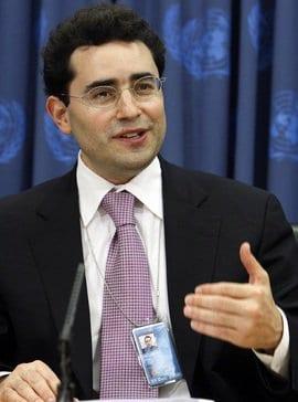 Caption: Mr. Hillel Neuer executive director of UN Watch