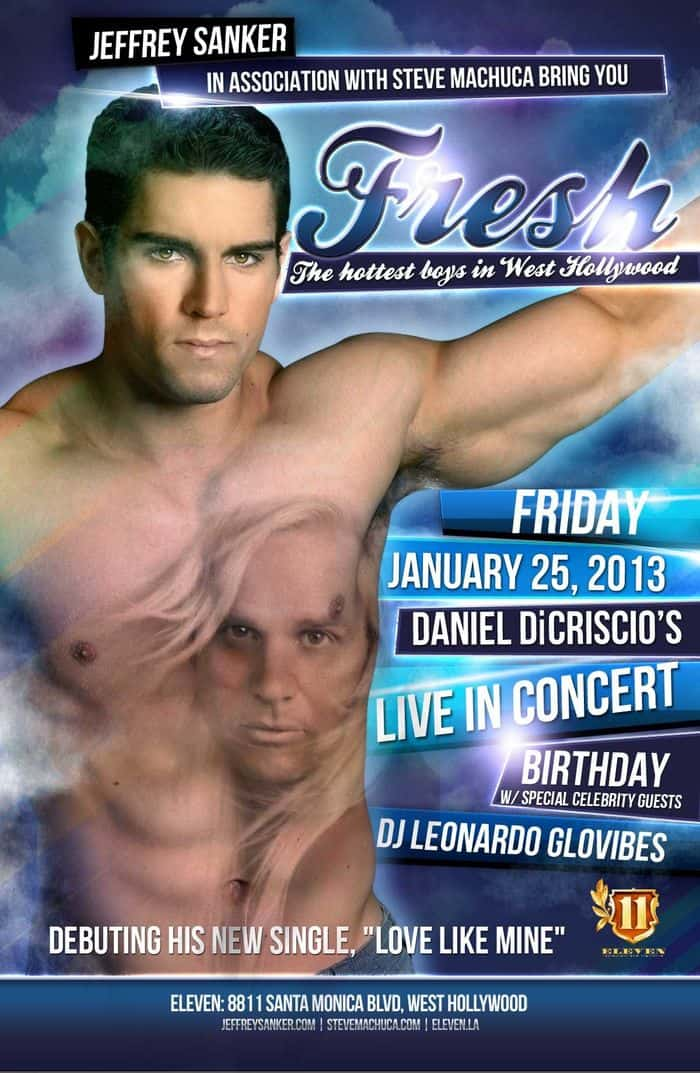 Daniel DiCriscio Live in Concert Birthday Flyer