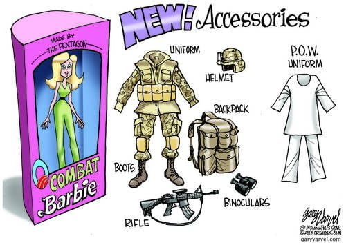 Combat Barbie Takes To The Streets, Preparing Daughters For The War To End All Wars In The Future
