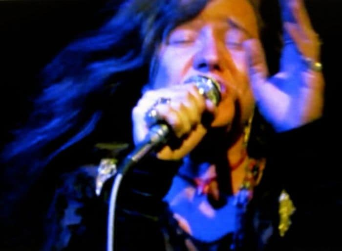 janice joplin flowing blue hair