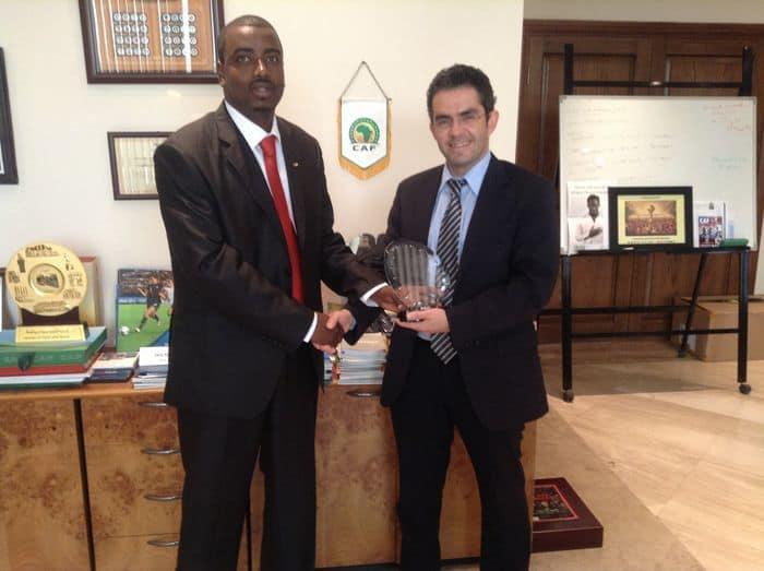 President Souleiman and CAf secretary General Hicham El Amrani