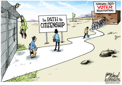 As Previously Suspected, The Path To Citizenship Is Through Democrat Voter Registration