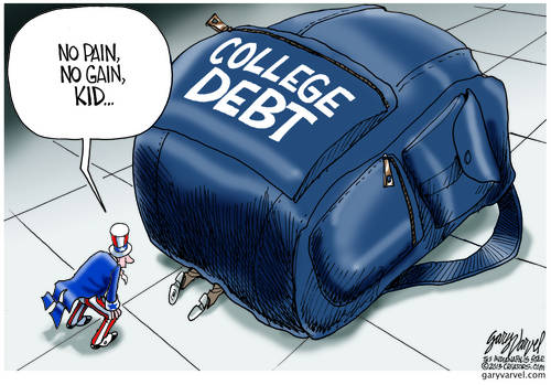 College Kid Crushed Under His Own Backpack. Uncle Sam Has No Sympathy - No Pain, No Gain