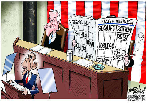 State Of The Union - A Very Sad And Sorry State It Is: Benghazi, Unemployment, Debt, Healthcare Costs, Immigration, Gun Control