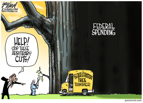 The Sequestration Tree Trimmer Cuts A Leaf, As White House Screams, But Does Nothing