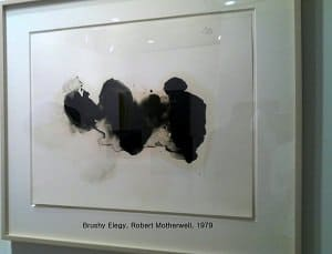 brushy elegy Robert Motherwell photo by Moira Cue