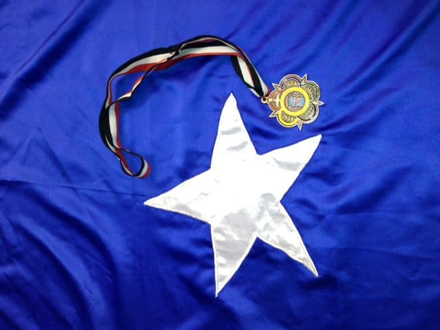 flag and the medal