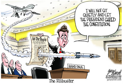 The Rand Paul Filibuster To Protect The Constitution Receives A Warning Shot