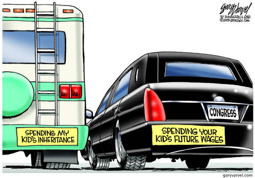 Gotta Love Bumper Stickers. Snowbirds and Congress Competing For The Kids Money