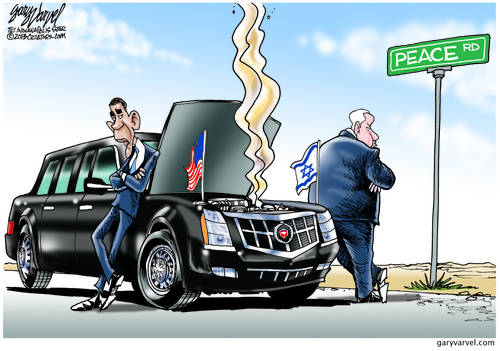 Bama and Bibi Stand On Opposite Sides Of The Road, As The Limo Stalls On Peace Road