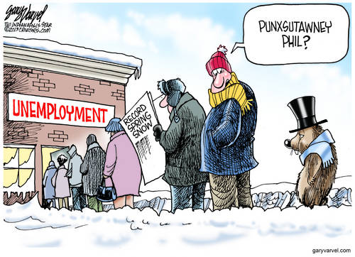Punxsutawney Phil Is Unemployed, Due To One Bad Forecast. Banks And Governments Get Bailouts, Private Contractors Get The Boot.