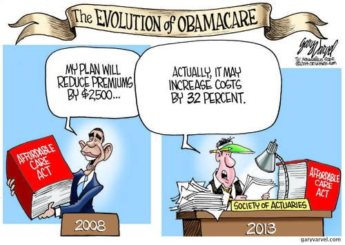 My Obamacare Will Reduce Health Costs, He Said. Not So Fast Said The Actuary