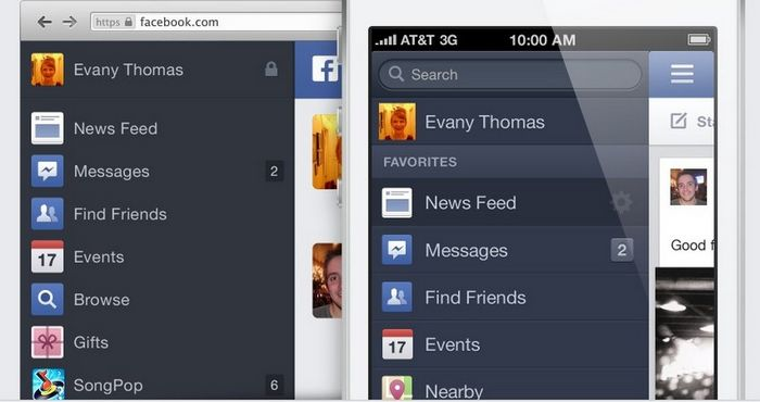 Facebook will look the same as before.