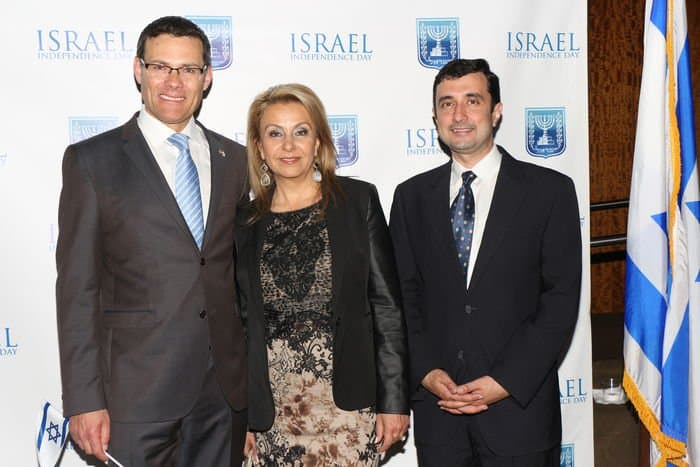 From L David Segal Israel Consul General guest Katherine Kahen Mohamed Samir Helmy Consul in the consul general of Egypt Israel and Egypt keep the peace=Photo Orly Halevy