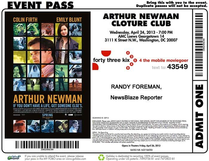 arthur newman ticket