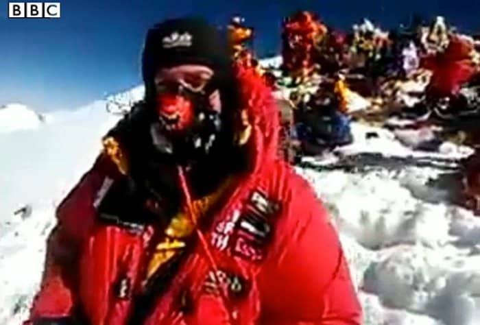 Daniel Hughes broadcasts first video from Mt Everest