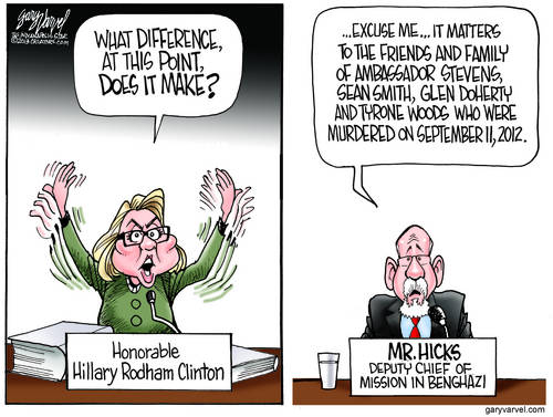Hillary Benghazi Attack cartoon