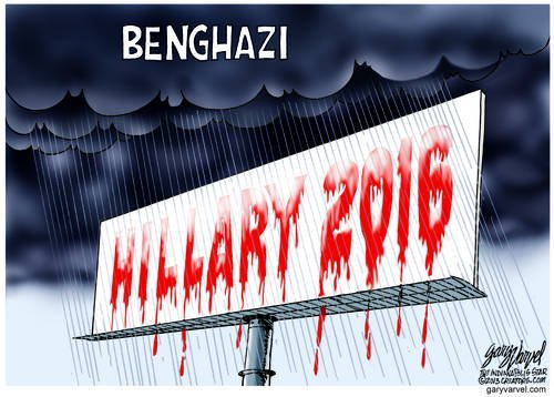 The Rain In Benghazi Falls Mainly On The Hillary 2016 Campaign Banner