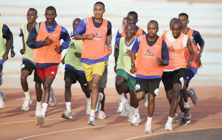 CECAFA Referees at a fitness test Photo By Gishinga Njoroge