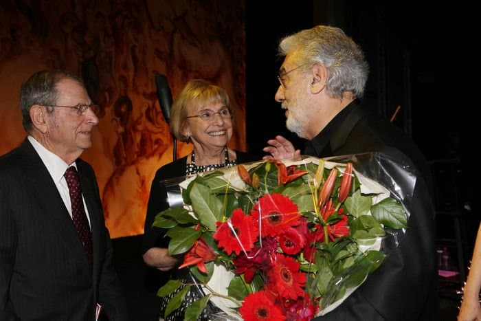 From L Howard Walter Marilyn significant other Marilyn Ziering Placido Domingo
