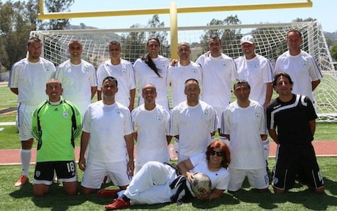 Israel soccer 35+ team with Orly Halevy Los Angeles June 2013 Photo Orly Halevy