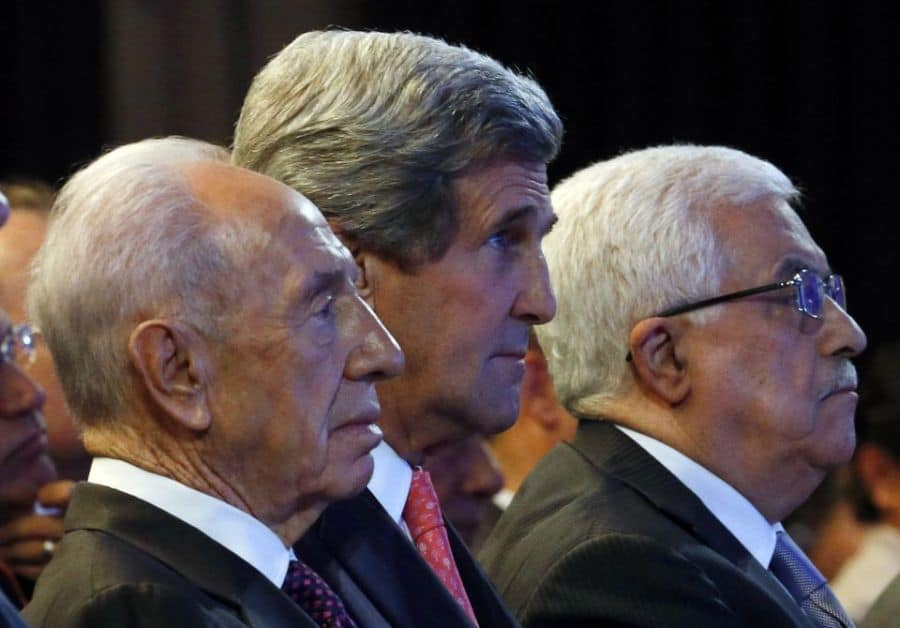 Peres Kerry and Abbas
