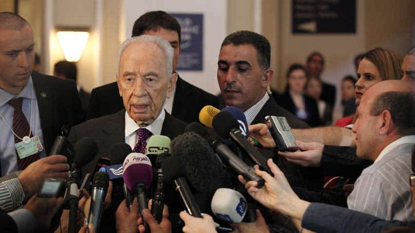 Shimon Peres at World Econonic Forum in Jordan