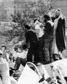 Protests against the Ayatollah Khomeini government (20 June 1981). Photo by BBC Persian, public domain.