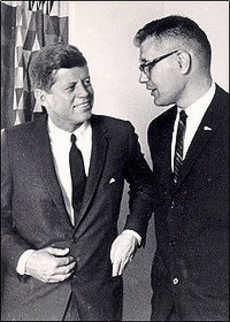 congressman Dingell with President Kennedy.
