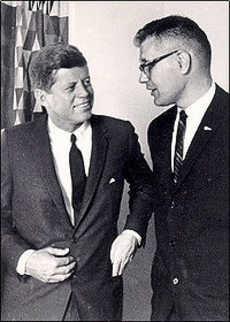 congressman Dingell with President Kennedy.