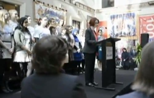 julia gillard makes gender war