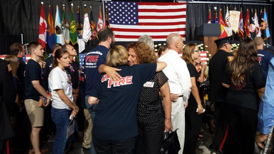 Batsheva with Arizona fire fighters family member