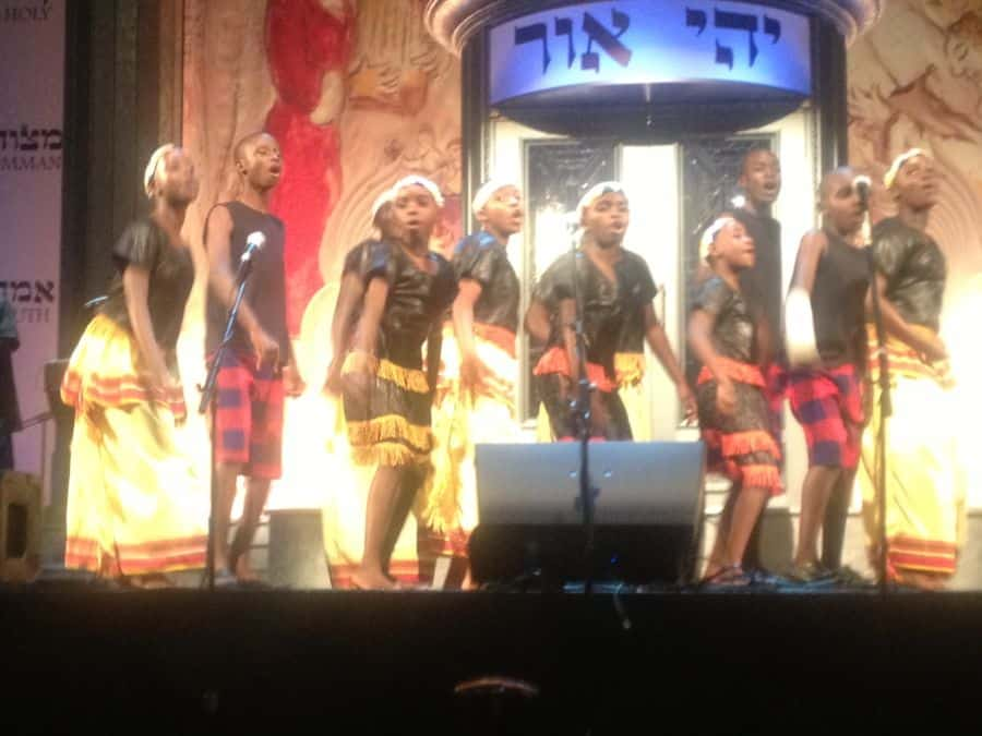 Mwamba performing at the Saban Theatre