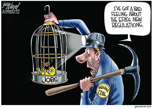 Indiana Coalminer Has An Uneasy Feeling About EPA Regulations. The Jobs Canary Looks Unwell