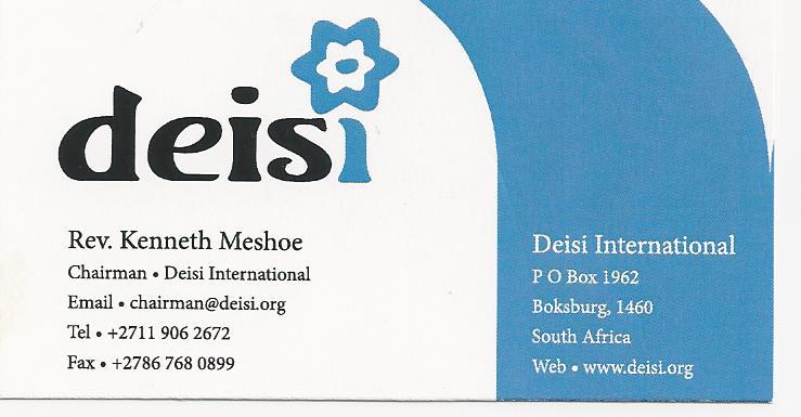 DEISI International business card