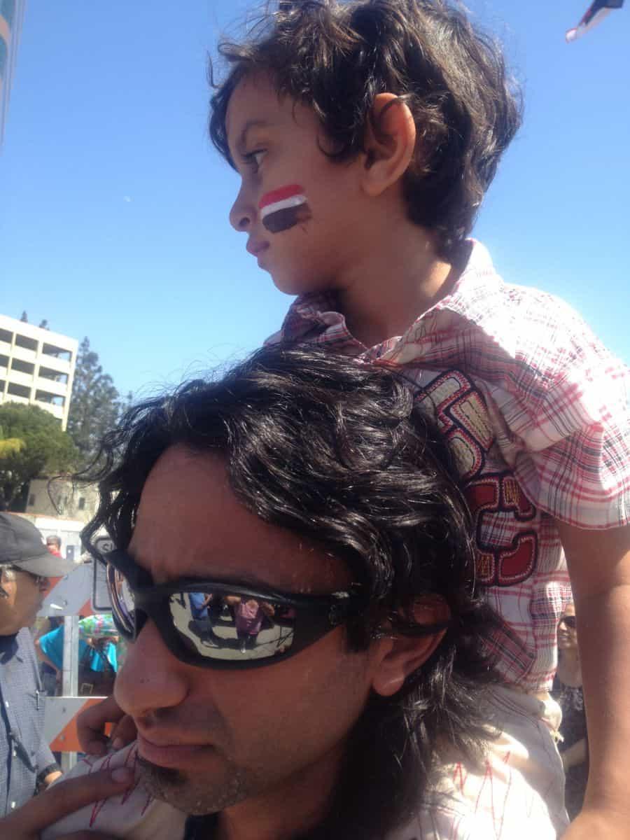 Egypt Flag on face