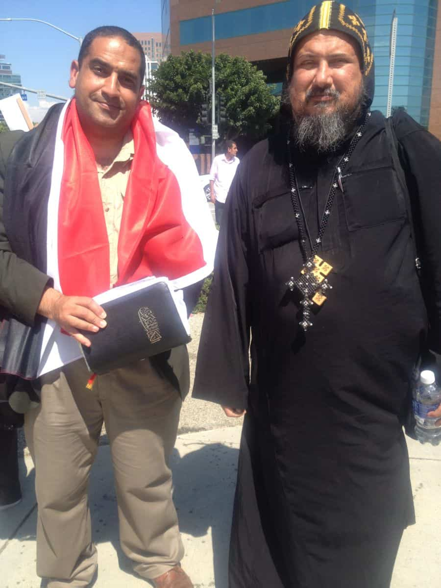 From R Copt Father Angilos and Brother Athansious